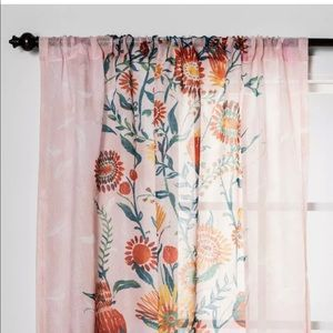 opal house floral daisy sheer curtain panel 84x54